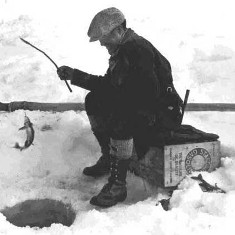 Vintage Ice Fishing