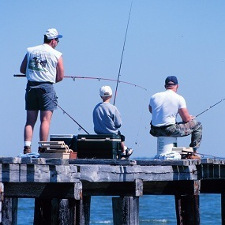 Fishing on a Pier