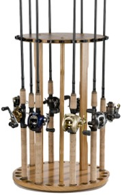 Organized Fishing Round Rack